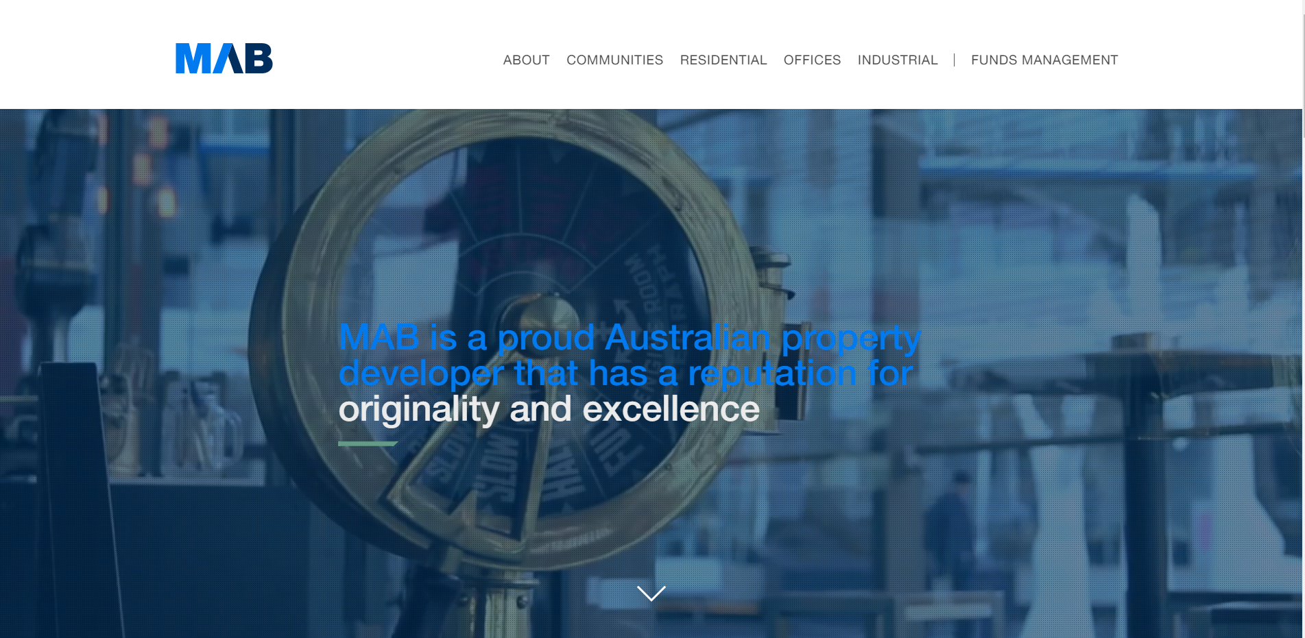 MAB Corporate homepage